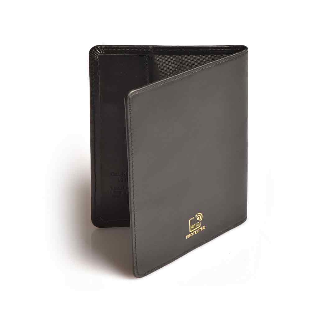 FRiLuk Vegan Leather Travel Wallet Passport Holder Navy Blue
