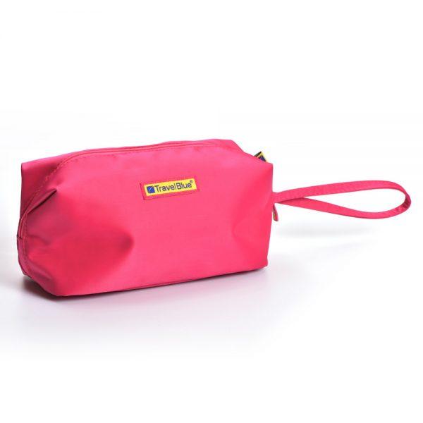 pink cosmetics bag
