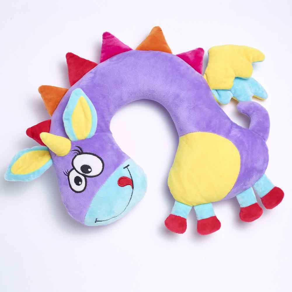 unicorn travel pillow travel blue
