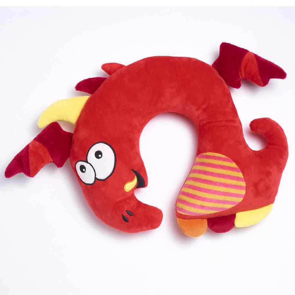 red dragon travel pillow for kids