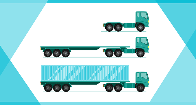 sustainable logistics to contribute to sustainable travel methods 3 blue trucks each smaller than the other.